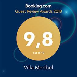 Villa Meribel booking award