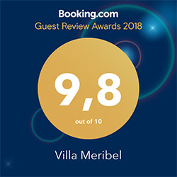 Villa Meribel booking award